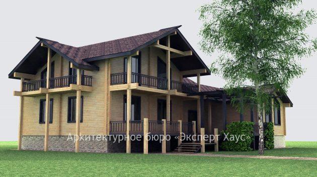Проект дома из клееного бруса в Голицыно
