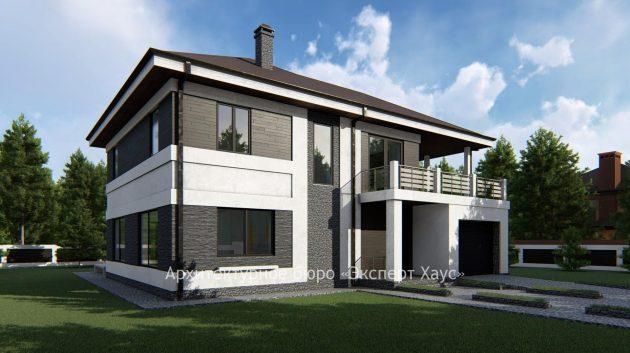 Проект дома из арболита в к/п Белаго