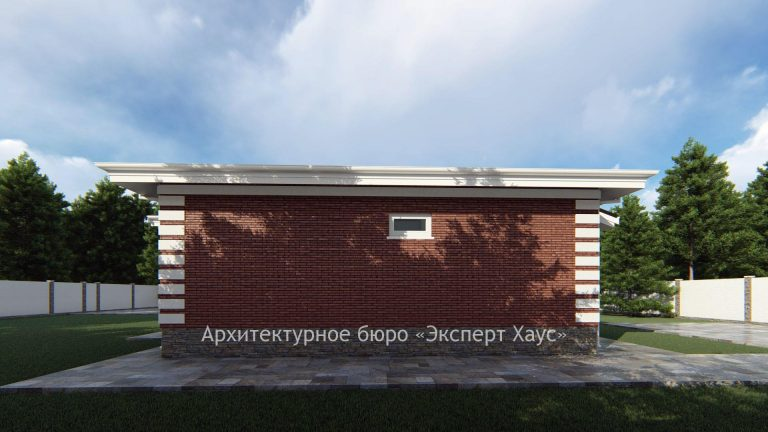 Одноэтажный каркасный дом