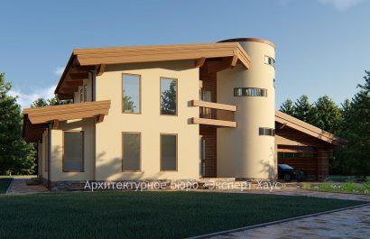 Проект дома в стиле Шале из поротерма