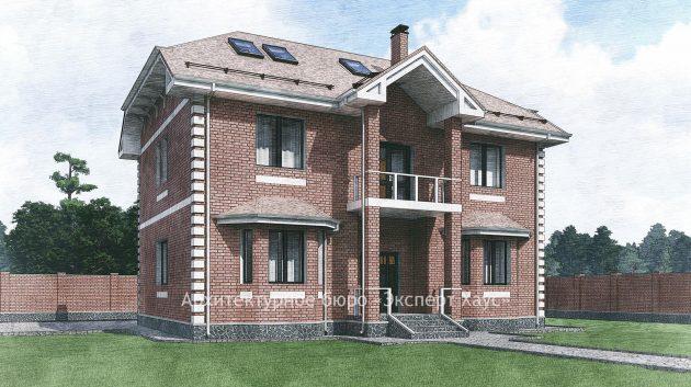 Дом из кирпича в Нахабино