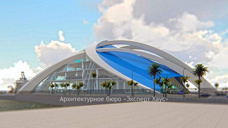 Морской вокзал в городе Евпатория