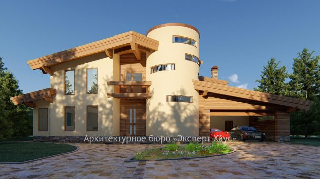 Проект дома из теплой керамики 380 м.кв.