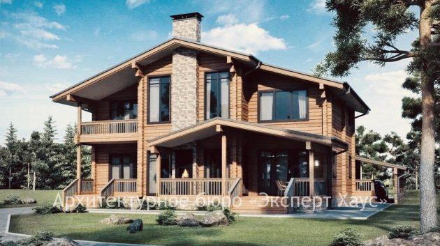 Дом из клееного бруса 361 м.кв.