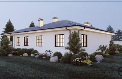 Проект одноэтажного дома из газобетона в Аксаково