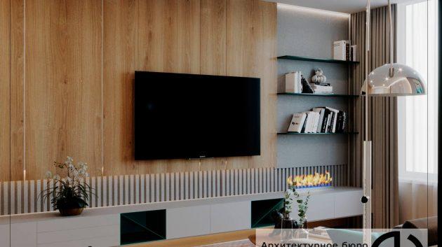 Дизайн гостиной в Мытищах