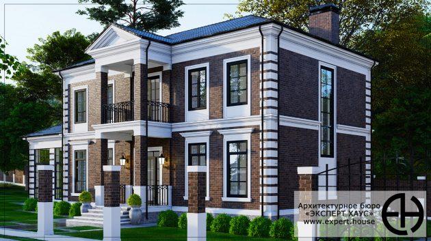 Проект дома в английском стиле 330 м.кв.